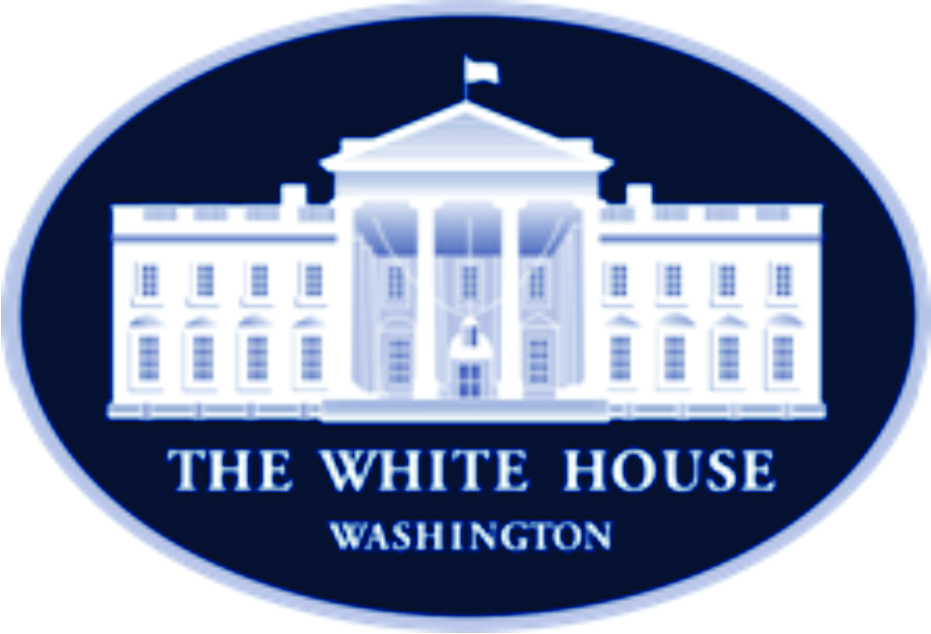 white house logo. The White House